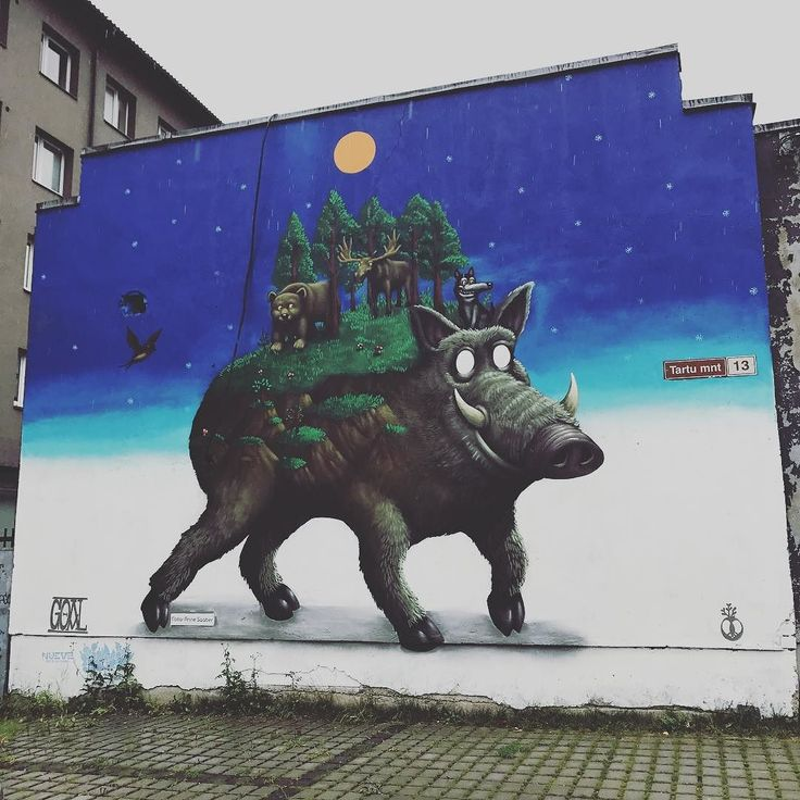 We saw this in june as it was being made - great to see it now in it's full glory  #streetart #murals #streetarttallinn
