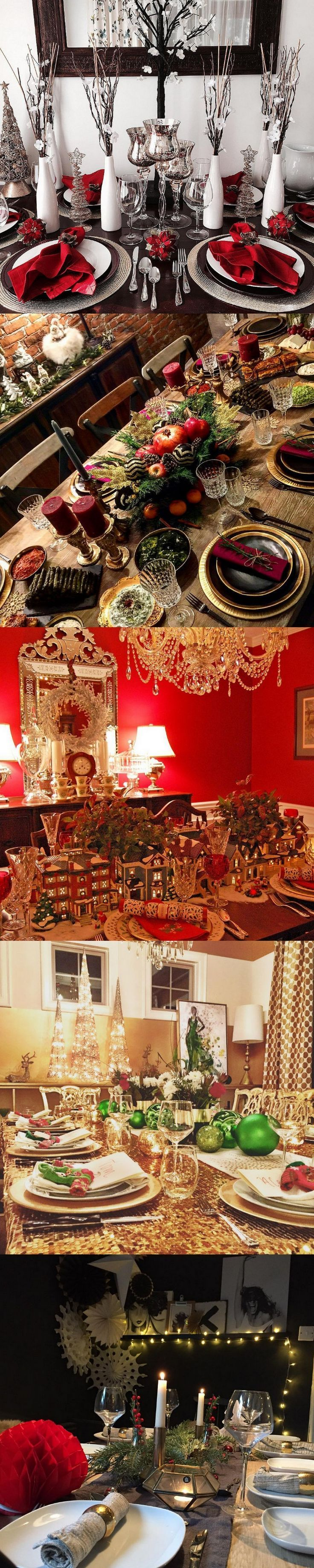 70 ultra modern christmas tablescapes christmas table decorating ideas - Christmas Table Decorating