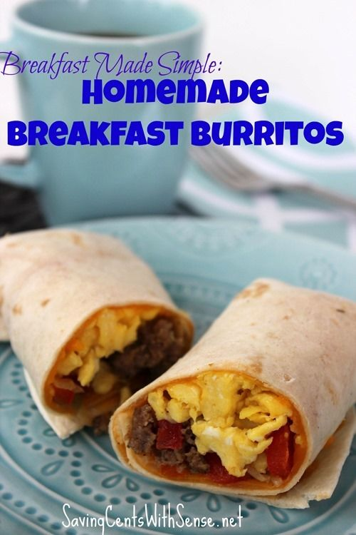 Breakfast Burritos Recipe http://www.savingcentswithsense.net/2014/08/breakfast-burritos-recipe/