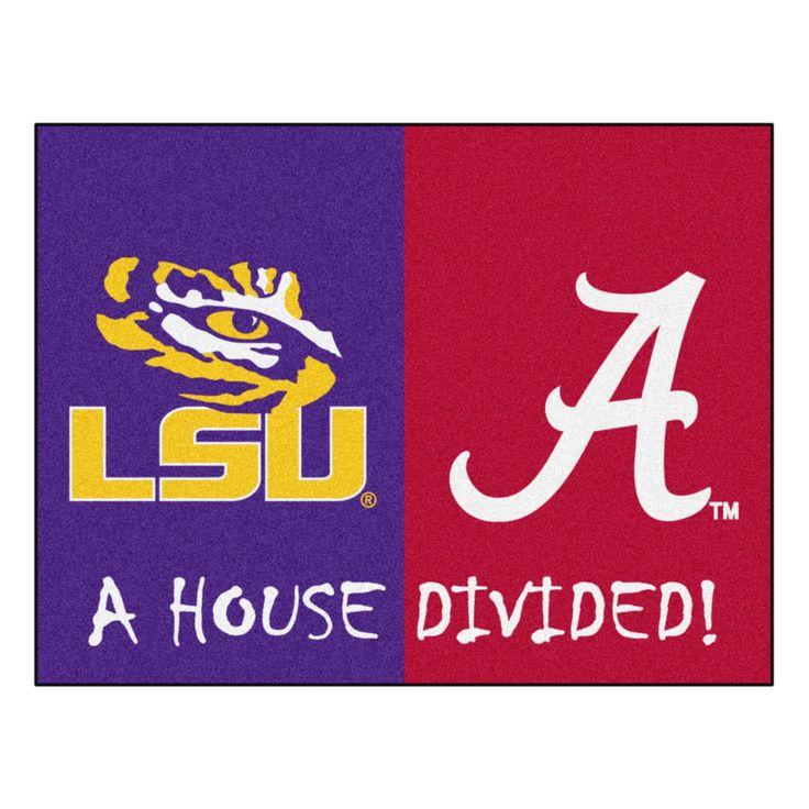 LSU - Alabama NCAA House Divided Rugs 33.75x42.5