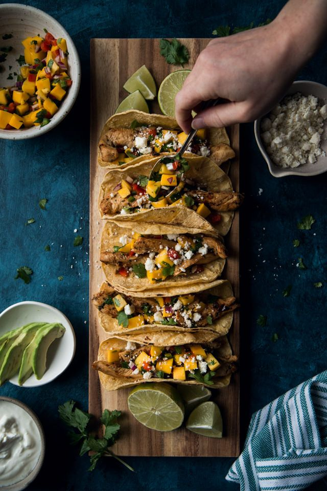 Chili Lime Marinated Chicken Tacos With Mango Salsa (gluten-free) | Will Cook For Friends
