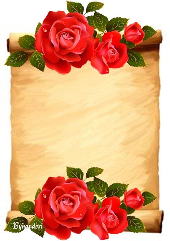 свиток с цветами картинки