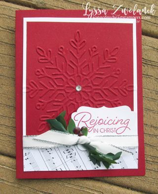 Winter Wonder Holly and Berries Christmas card