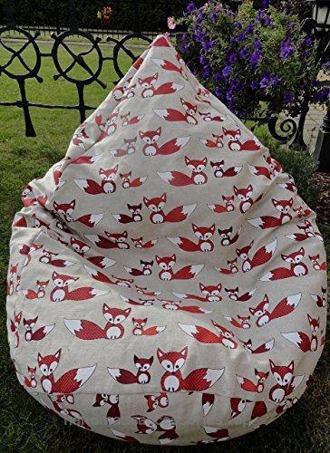 Linen Bean Bag Chair Cover