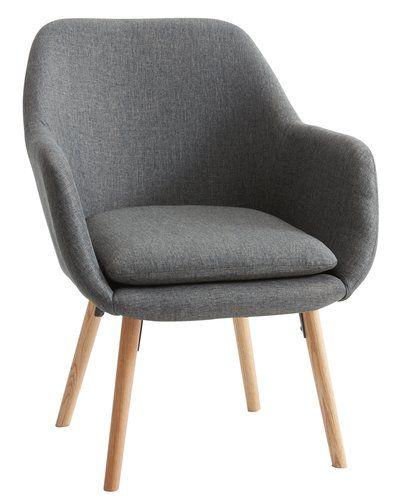 Fotelja UDSBJERG tkanina siva | JYSK