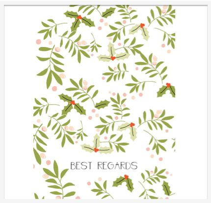 Elegant Holly & Mistletoe Christmas Cards, exclusively designed for Lumley Locket by www.susancarson.co.uk