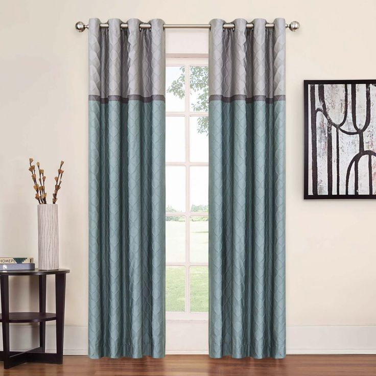 Eclipse Arno Thermalayer Blackout Curtain Online Only 95 Blue And Gray Also Have