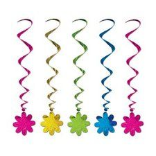 Flower Power Dangling Whirl Party Decorations ~ Birthday Party Themes: 60's Tye Dye Peace Party