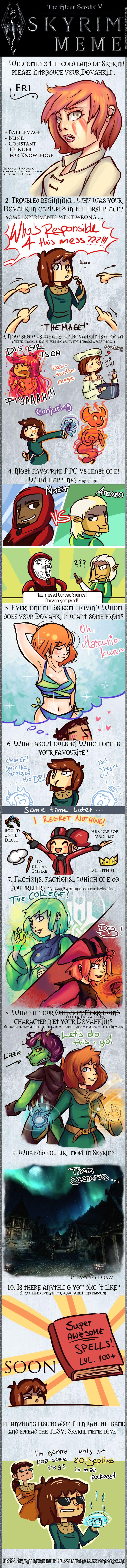 Skyrim Meme RELOADED by LizbethLizard on DeviantArt