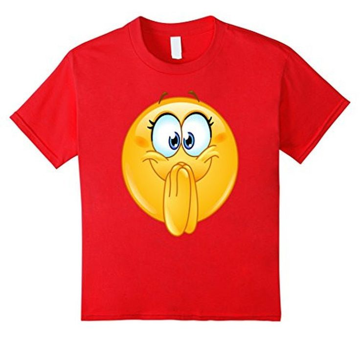 Women's Men's Emoji Excited Emoticon T-Shirt