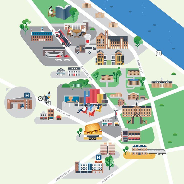 Rutgers University maps on Behance in 2020 | Legoland ...