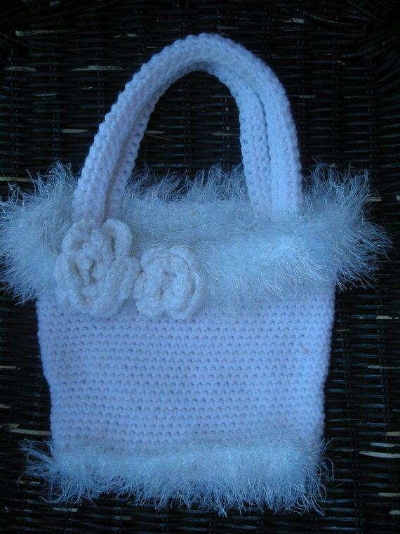 Crochet Purse, Purse, Fancy Purse, White purse, OOAK, Wedding, Handmade by CelinaRoseDesigns on etsy, $12.00