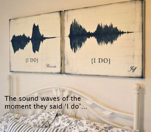 """i do"" sound waves...i love this idea and this would also be a cute tattoo for a couple!!♥"