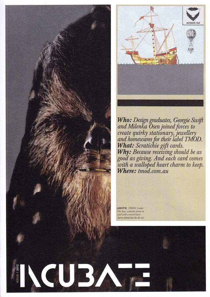 Scratchie Cards, COFA's Incubate Magazine, Issue 7 2012