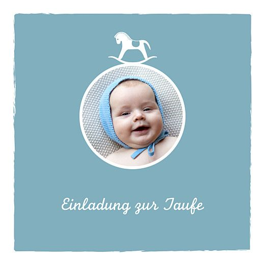 Taufeinladung Pferdchen Blau Von Tomoe Für Rosemood.de #Taufe #Taufkarte  #Pferd #