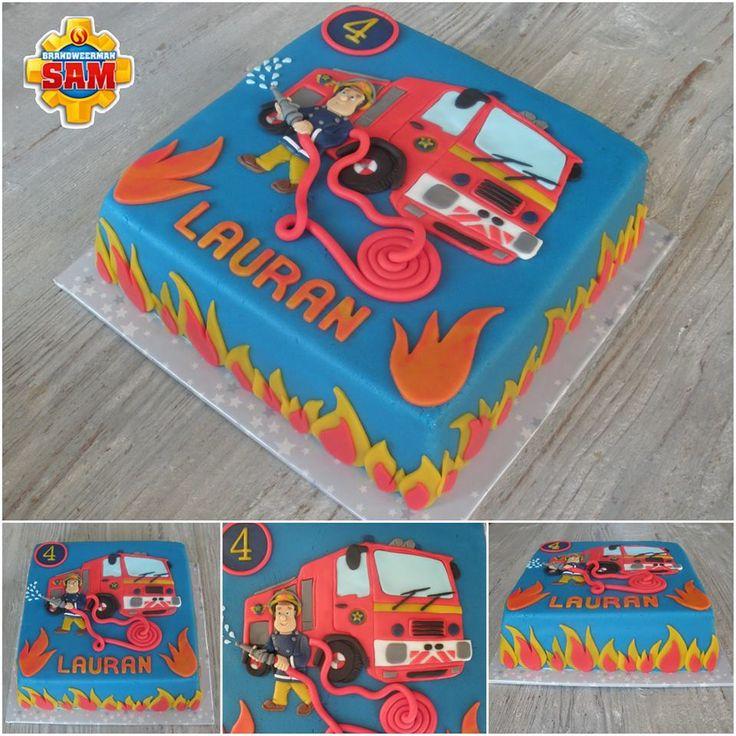 Brandweerman Sam taart door Cakes by Elize (facebook.com/elizestaarten)