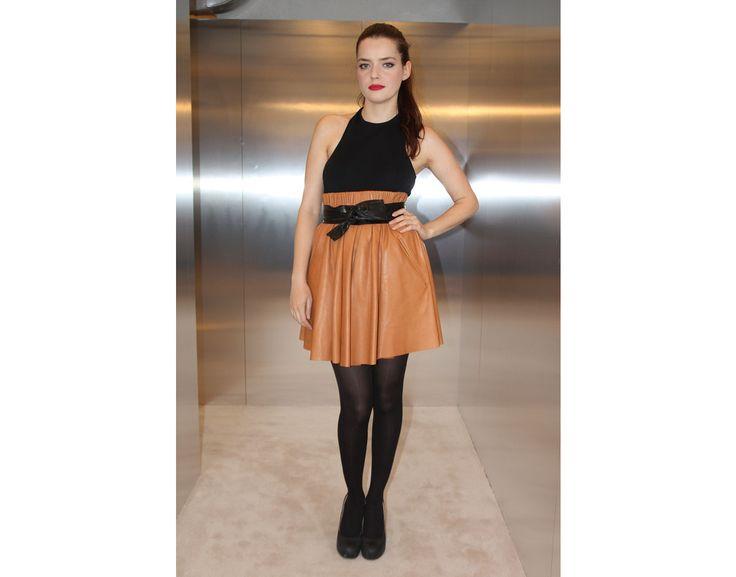 L'actrice française portait un ensemble Acne de la collection printemps-été 2012 lors de la soirée d'inauguration de la nouvelle boutique parisienne, le 13 décembre dernier.