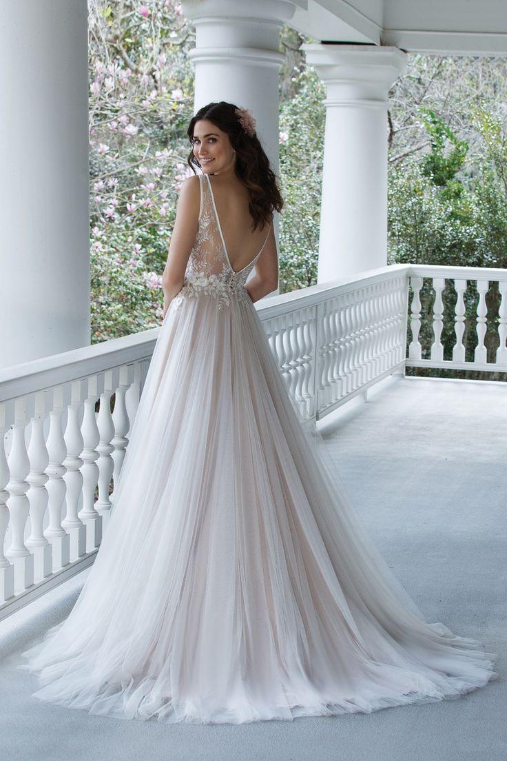 The 829 best Long Wedding Dresses images on Pinterest | Bridal ...