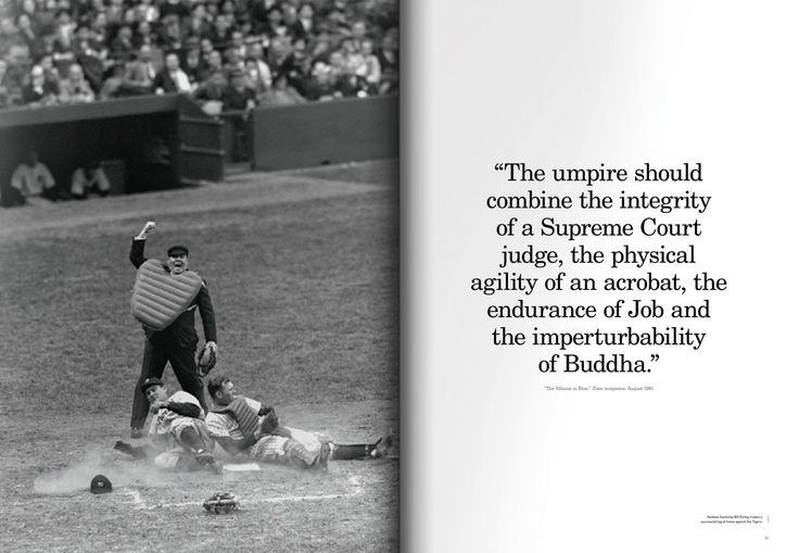 The Umpire in a baseball game #MLB #baseball #book #design