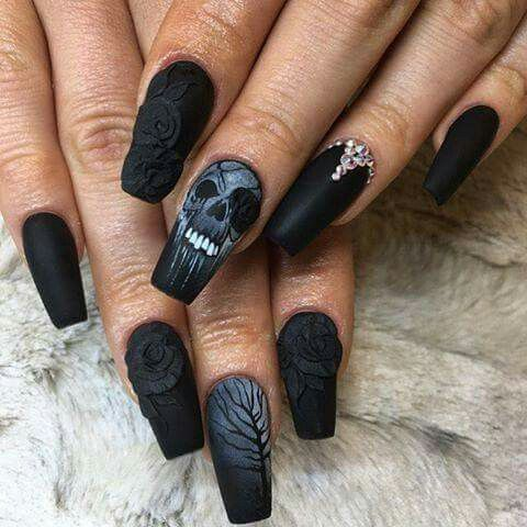 The 25+ best Black acrylic nails ideas on Pinterest | Dark acrylic nails, Black  nails and Black glitter nails - The 25+ Best Black Acrylic Nails Ideas On Pinterest Dark Acrylic