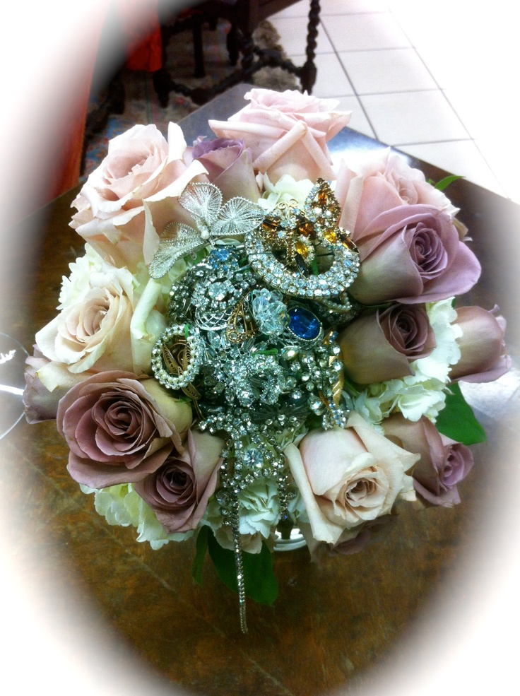 wedding flowers bridal bouquet 2 we created many vintage brooch bouquets this one 9547