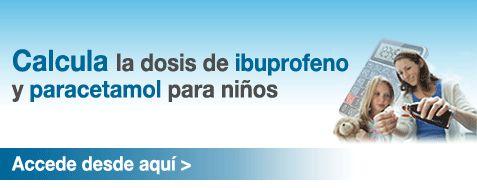 Calculadora para dosis de Ibuprofeno y Paracetamol