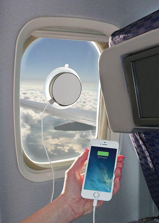Smartphone laden mit Solar-Aufkleber für Fenster