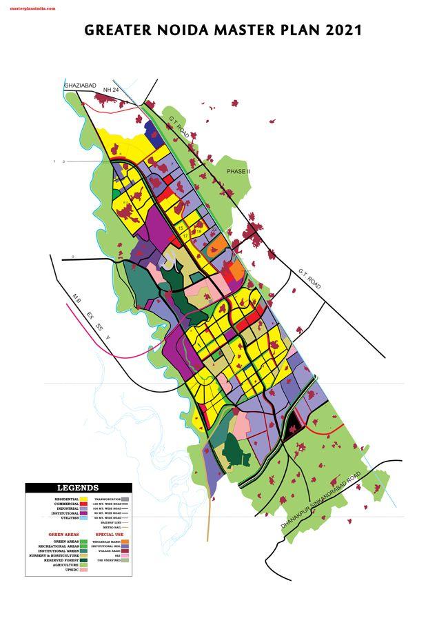 Greater Noida Master Plan 2031 Map