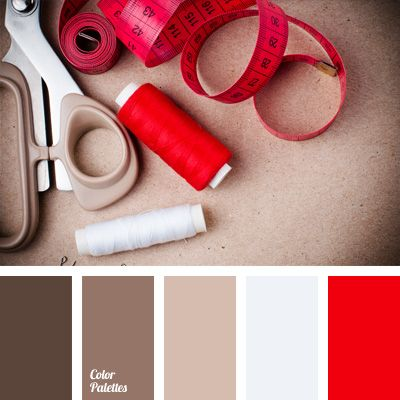 Rich bright red colour will look very advantageous against the background of warm shades of brown. This combination is perfect for people who are impulsive.