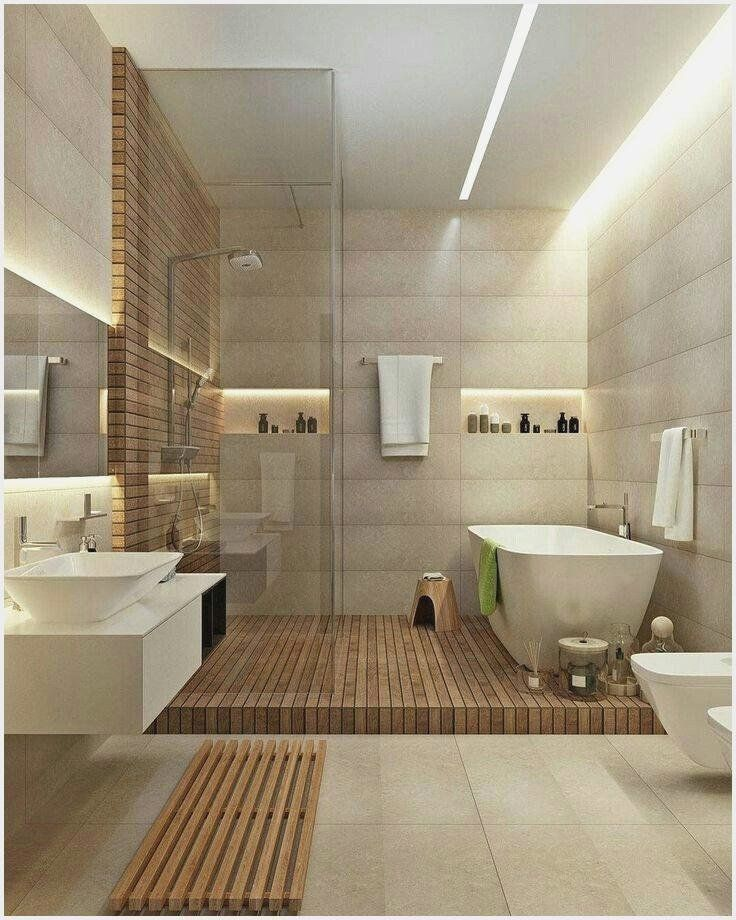 Mid Century Modern Bathroom Accessories Fresh Luxury Bamboo Bathroom Accessories Graph In 2020 Minimalist Bathroom Design Small Master Bathroom Bathroom Design Small