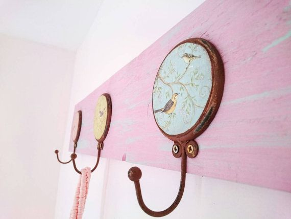 Hey, I found this really awesome Etsy listing at https://www.etsy.com/uk/listing/448534754/vintage-wall-hooks-wooden-nursery-decor