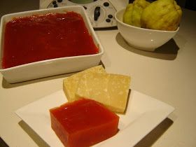 Quince paste is such a wonderful little accompaniment to cheese, and when somebody gives you a dozen quinces, it is just the thing to cook...