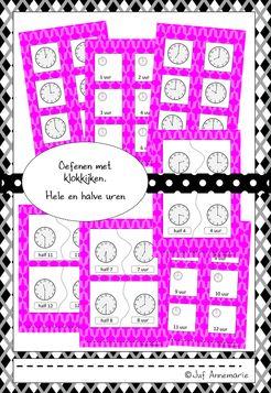 klokkijken oefenen flitskaartjes