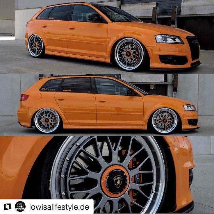 #audi #orange #wheels #rims #wheelporn #instagood #instalike #picoftheday #caroftheday #lower #modded #lowisalifestyle #tuning #turbo #lamborghini #centrallock