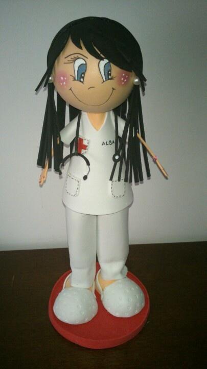 Fofucha enfermera | Fofuchas | Pinterest