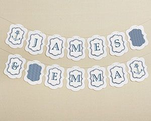 Personalized Banner- Kate's Nautical Wedding Collection