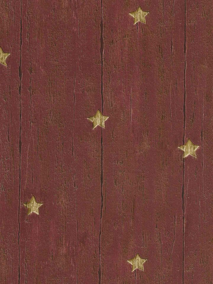 Maroon 418 60019 Wood Star Wallpaper Rustic Country