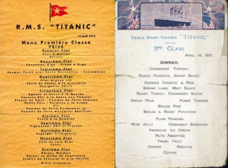 ¿Qué comieron los pasajeros del Titanic la noche del hundimiento? > http://www.blogcocina.es/2012/04/17/que-comieron-los-pasajeros-del-titanic-la-noche-del-hundimiento/
