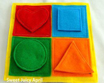 Formas y colores que tranquilo libro página por SewASied en Etsy