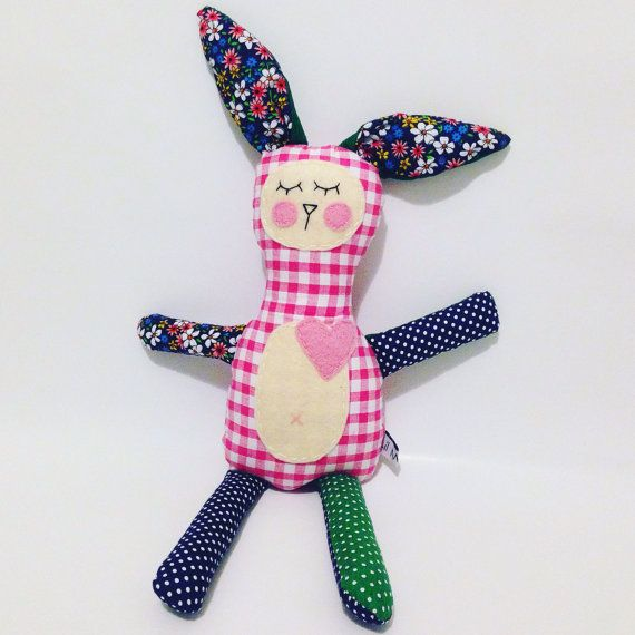 Molly the plush bunny toy for baby girls. $25 at LilMeegs on Etsy