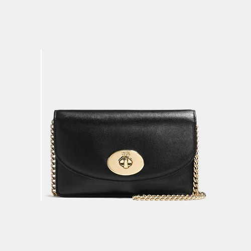 Coach Outlet Coupons & COACH CLUTCH wallet with chain LIGHT GOLD/BLACK