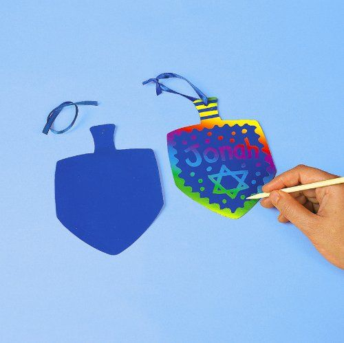 Kids' Scratchboard Art Kits - Magic Color Scratch Dreidels Kits 1 dz -- Check out this great product.