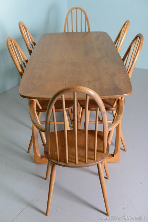 Antiques Atlas - Beautiful 1960's Elm Ercol Dining Table & Chairs