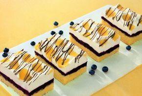 Ein fruchtiger und sahniger Kuchen mit Waldheidelbeeren