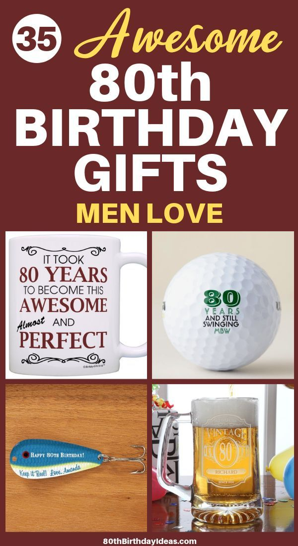 80th Birthday Gifts For Men Mens Birthday Gifts 80th Birthday