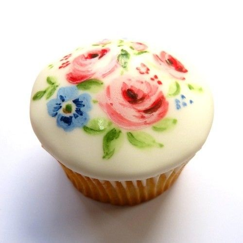 """""""painted"""" cupcakes"""