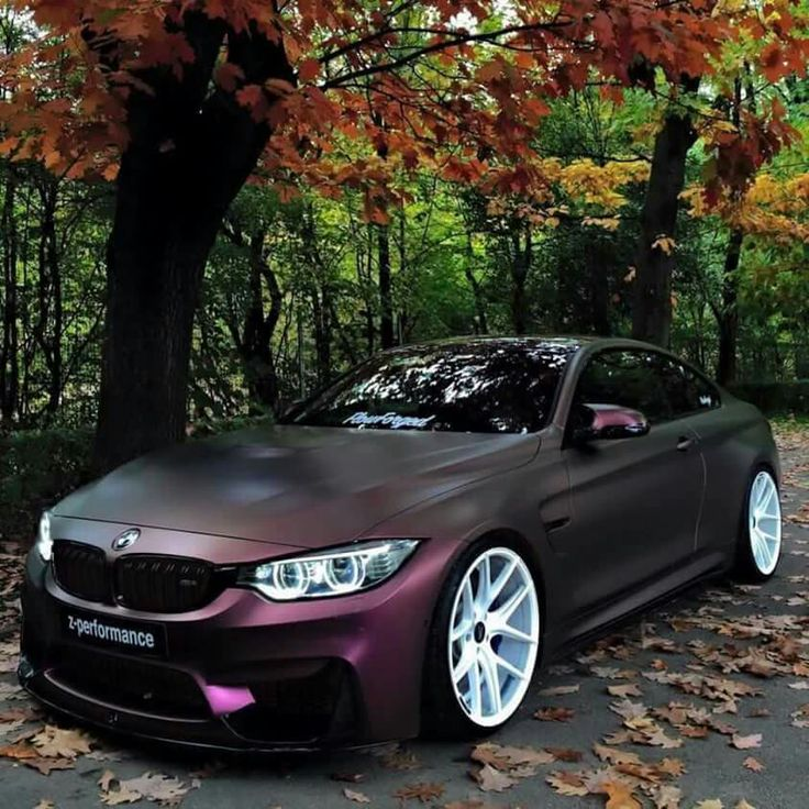 I love the matte purple! Wish the wheels were bronze toned though. That would be badass. And I don't even like bmw.