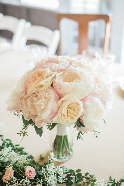 brides bouquet pink and white peonies and blush garden roses crystalspringsflorist blush bouquet