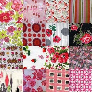 vintage fabric red - Google Search  maybe not these exactly, but some of them together: Diy Ideas, Patchwork, Flour Sack, Quilt, Pattern, Vintage Fabrics, Google Search, Sewing Ideas, Floral Fabrics