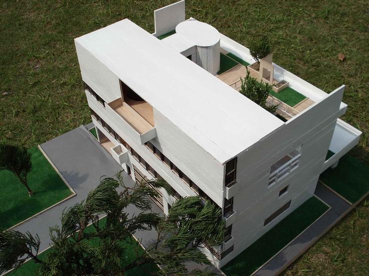 Le corbusier villa stein architectural model by gu - Le corbusier tetto giardino ...